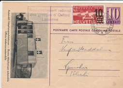 12251) SVIZZERA HELVETIA POSTKARTE CARTOLINA POSTALE POSTKARTE AUTOMOBIL TELEPHONSPRECHSTATION UFFICI - Svizzera