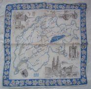 Old Vintage Souvenir Swiss Handkerchief Switzerland - Mouchoirs