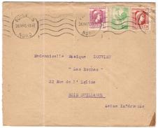 FRANCIA - France - 1945 - 70c + 10c + 1,20F - Viaggiata Da Fourmies Per Bois-Guillaume - Covers & Documents