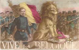 MILITARIA Patriotique BELGIQUE : Vive La Belgique - CPA - Belgium Belgien België - Patriotiques