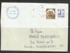 ITALIA REPUBBLICA ITALY REPUBLIC 29 7 1983 1980 1992 1981 CASTELLI BOBINA MACCHINETTE FORTEZZA SVEVO LIRE 200 SU LETTERA - 6. 1946-.. Repubblica