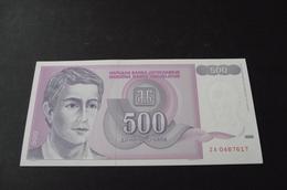 500 Dinara 1992.   Zamenska, Replasement Banknote 500 Dinars - Yugoslavia