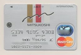JAPAN Credit Card Bankcard MITSUKOSHI MasterCard Exp 08.2005 - Tarjetas De Crédito (caducidad Min 10 Años)