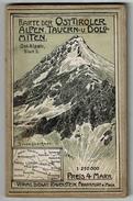 Karte Der Ost-Tiroler Alpen, Tauern U. Dolomiten - Ost-Alpen Blatt 5  - 1:250,000 - Litho - 2 Scans - Cartes Topographiques