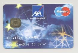 BELGIUM Credit Card Bankcard AXA Bank Maestro - Geldkarten (Ablauf Min. 10 Jahre)