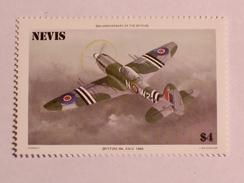 NEVIS  1986   LOT# 4  SPITFIRE PLANE - St.Kitts-et-Nevis ( 1983-...)
