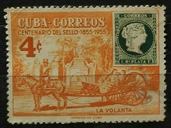 CU BA 1955 The 100th Anniversary Of The First Cuban Postage Stamps. USADO - USED. - Cuba