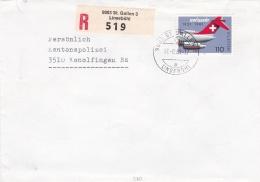 Switzerland Registered Cover To The Police - Kantonspolizei In Konolfingen P/m St.Gallen A Linsebühl 1981 - Reg.label 90 - Police - Gendarmerie