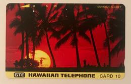 Palm Trees At Sunset - Hawaii