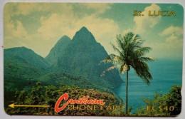 St Lucia Phonecard EC$40 3CSLC Mountains - Saint Lucia