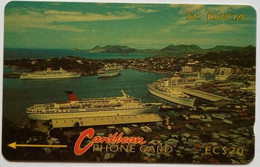St Lucia Phonecard EC$20 7CSLB Port - Saint Lucia