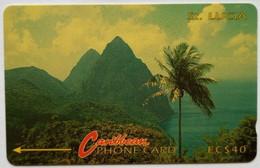 St Lucia Phonecard EC$40 7CSLC Mountains - Saint Lucia