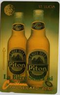 St Lucia Phonecard EC$20 Piton Beer 14CSLD - Santa Lucía