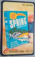 St Lucia Phonecard EC$10 Spring Detergent 15CSLC - Saint Lucia
