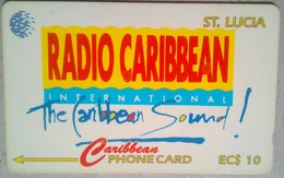 St Lucia Phonecard EC$10 Radio Caribbean 15CSLB - Santa Lucía
