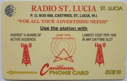 St Lucia Phonecard EC$10 Radio St Lucia 17CSLA - Santa Lucía