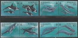 1994 Kiribati  Whales  Complete Set Of 8 MNH - Kiribati (1979-...)