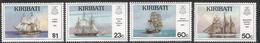 1996 Kiribati  Sailing Ships   Complete Set Of 4 MNH - Kiribati (1979-...)