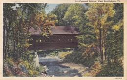 ETATS-UNIS--RARE---BRATTLEBORO--covered Bridge,west Brattleboro  VT.--voir 2 Scans - United States
