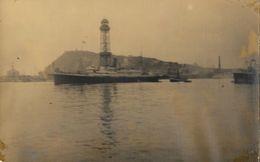 Carte-Photo à Identifier - Port Vendres? - Navire Gouverneur Général Cambon? à Vérifier - Carte Non Circulée - Te Identificeren