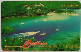 St Lucia Phonecard EC$40 Marigot Bay 137CSLB - Saint Lucia