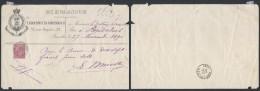 AO795 Reçu Chapellerie Militaire De St Josse Ten Noode à Anderlues 1891 - Non Classés