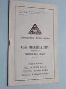 Landbouwmachines Cyriel WEEMAES & Zn Smishoek MEERDONK-Waas DE KROON ( Tarief N° 61 ) 1961 ! - Publicidad