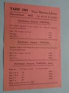 Theo MARTENS - LIBENS Meeuwerkiezel BREE ( Distri D'engrais ) ( Tarif 1961 ! - Publicités