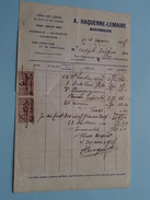 Vins En Gros A. HAQUENNE-LEMAIRE Mariembourg ( Factuur / Tax ) > Tichon : Anno 1923 ! - Alimentaire