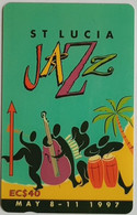 St Lucia Phonecard EC$40 Jazzfest 1997 147CSLF - Saint Lucia