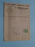 E. THOMAS-DELAHAYE Frasnes-lez-Couvin ( Factuur / Tax ) > Gravier : Anno 1924 ! - Cars