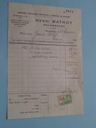 Grains HENRI MATHOT Mariembourg ( Factuur / Tax ) > Gravier : Anno 1934 ! - Alimentaire