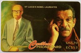 St Lucia Phonecard 147CSLB US$20 EC$53 Nobel - Saint Lucia