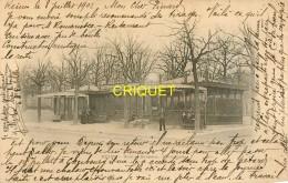 51 Reims, Cp Pionnière, Gare De Banlieue, Promenade, Carte Pas Courante Affranchie 1902 - Reims