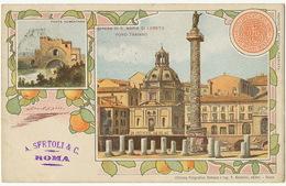 Litho Ponte Nomentano/Chiesa Di S. Maria Di Loreto 1900 A. Sertoli Vers Hesdin Pas De Calais Roma Ferrovia - Autres