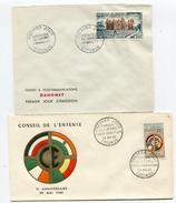 2 Env. 1 Ier Jour  Conseil De L'entente Et  Case SOMBA - Benin – Dahomey (1960-...)