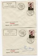 2 Env. 1 Ier Jour  1 Ier Ministre MAGA Dont 1 Signée - Bénin – Dahomey (1960-...)