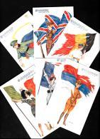 [DC10331] CPA - ILLUSTRATORE XAVIER SAGER - SERIE DI 6 CARTOLINE LES HYMNES NATIONAUX - Non Viaggiata - Old Postcard - Sager, Xavier