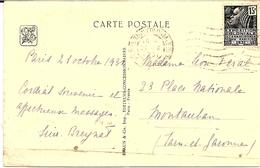 7---   PARIS EXPOSITION COLONIALE 1931  Concordance Avec Le Timbre Et La Carte - Poststempel (Briefe)