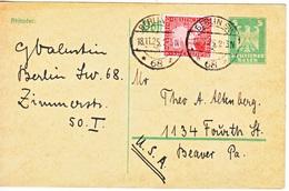 GERMANY  POSTAL CARD  TO  USA - Germany