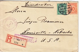GERMANY  REGISTERED  COVER  TO  USA - Covers & Documents