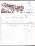 Facture Ancienne Illustrée . Léon Giraud, Chiffons En Gros, Paris 19e Arr., 1914 - France