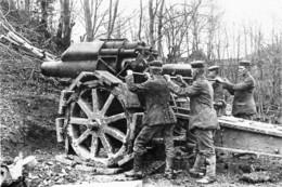 Militaria WW1 - Artillerie Lourde Allemande Dans La Somme En 1916 - 1914-18