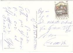 £40 FONTANA DELL'OCEANO SU CART.SOUVENIR DELLA CALABRIA - 6. 1946-.. Repubblica