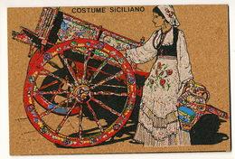 Costume Siciliano Carte En Liege Bois Costumes - Italië