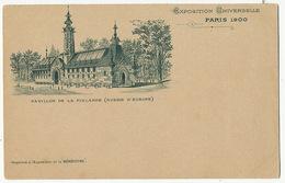 Pavillon De La Finlande Russie D' Europe Exposition Universelle Paris 1900 Pub La Benedictine Fecamp - Finlande