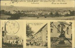 AK Lauda-Königshofen Heckfeld, Totalansicht, Kirche, Gasthaus Zum Grünen Baum, Kriegerdenkmal, O 1911 (18028) - Duitsland