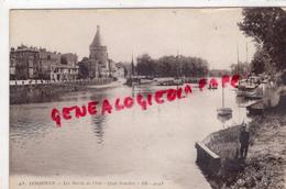 33 - LIBOURNE- QUAI SOUCHET  LES BORDS DE L' ISLE  - SABY FRERES 1934 - Libourne
