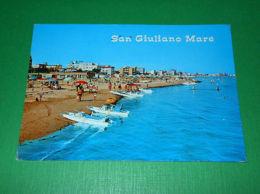Cartolina San Giuliano Mare - Panorama Spiaggia 1974 - Rimini