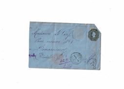CTN49/1AM - CHILI ENVELOPPE  CIRCULEE AOÛT 1899 AU TARIF RECOMMANDE TIMBRE ENLEVE - Chili